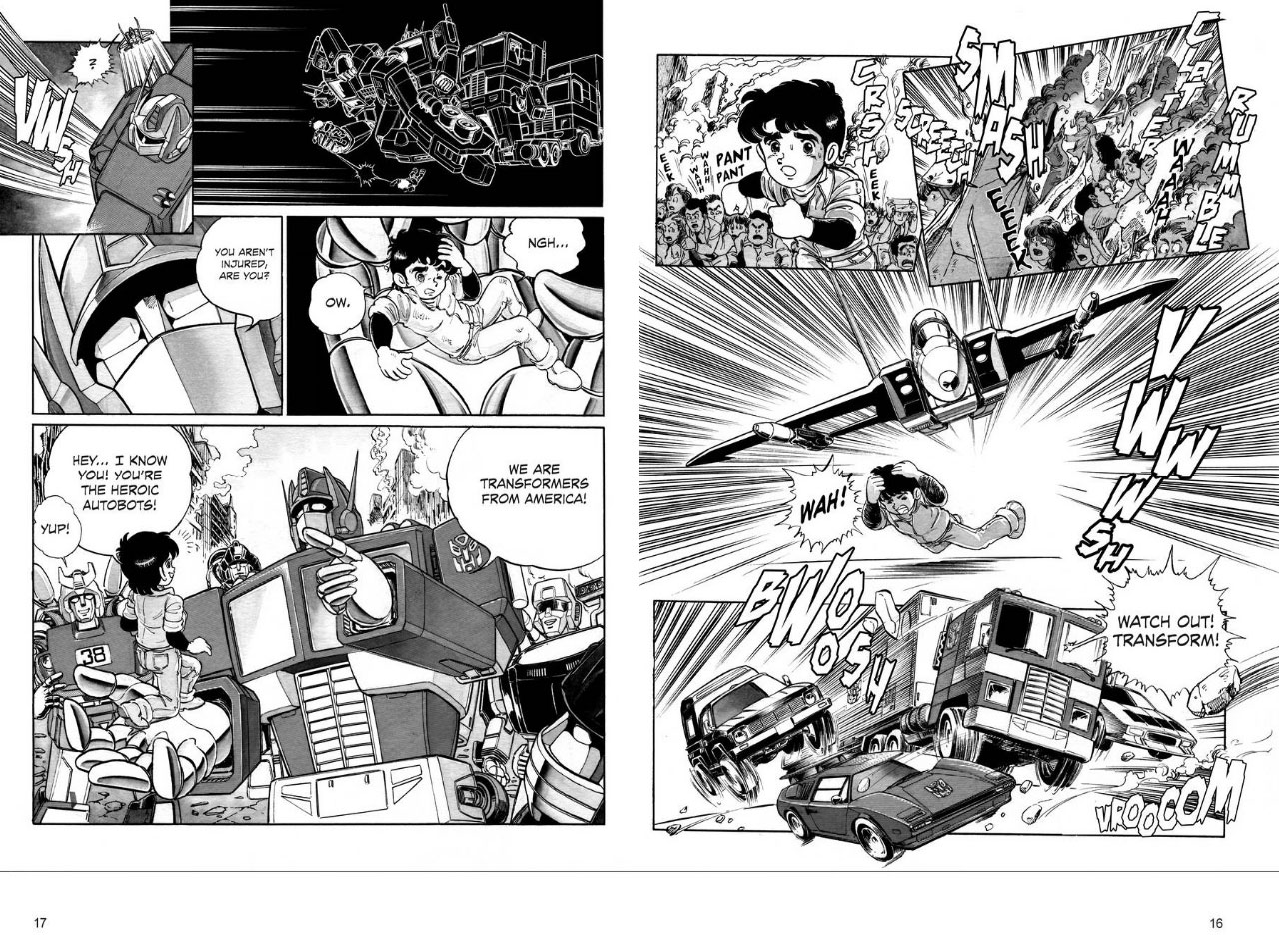 Transformers News: Free preview and additional images of Transformers: The Manga Volume 1 from Viz Media