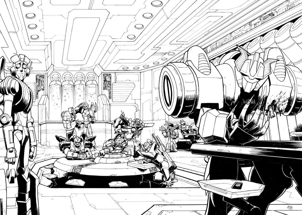 Nick Roche Auto Assembly 2013 'The Wake (MTMTE)' Print Lineart