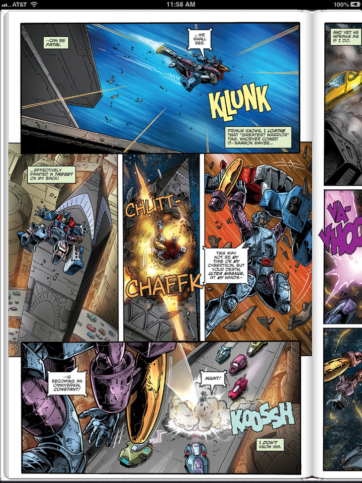 Transformers ReGeneration One #94 iTunes Sneak Peek