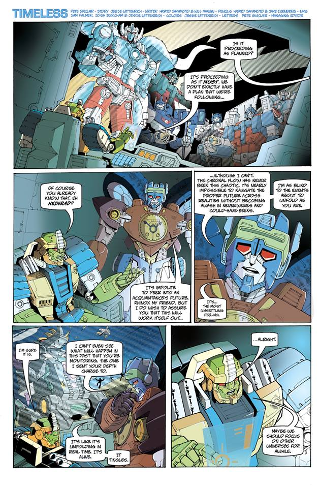 Transformers News: TFSS 2.0 Preview Comic Pages 1 and 2 (of 7)