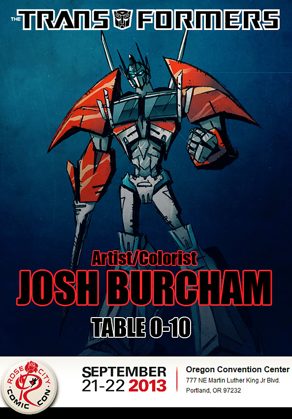 Transformers News: Josh Burcham Attending Rose City Comic Con, Portland, This Weekend