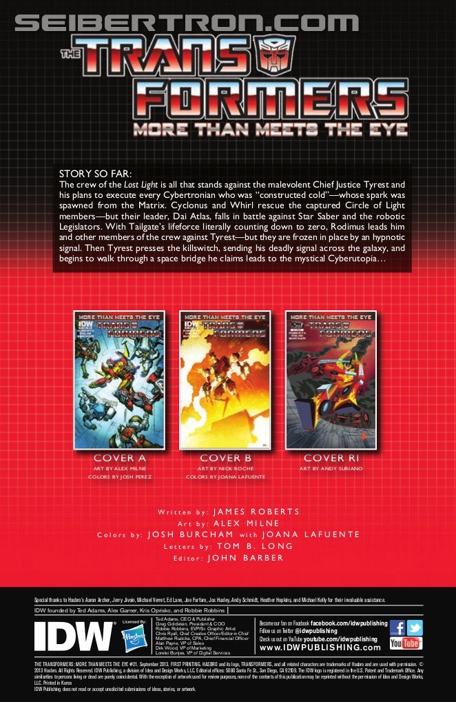 Idw Transformers More Than Meets The Eye 21 Preview