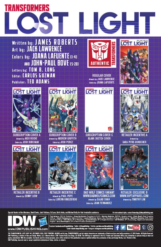 Transformers News: Full Preview of IDW Transformers: Lost Light #1