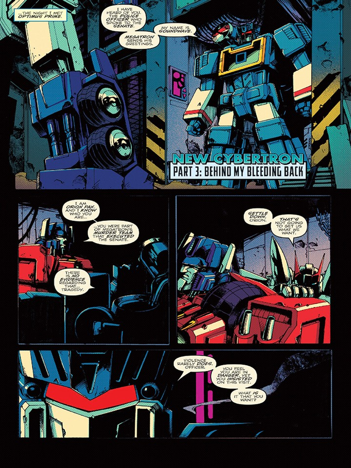 Transformers News: iTunes Preview for IDW Optimus Prime 3