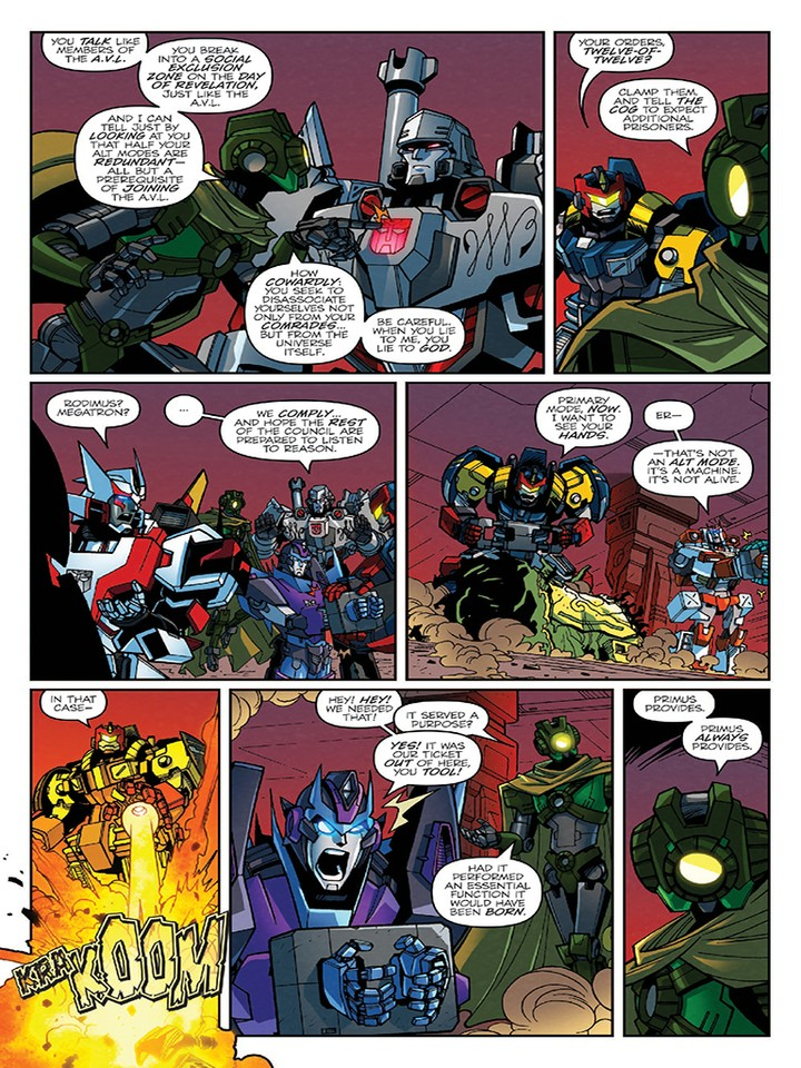 Transformers News: iTunes Preview for IDW Transformers Lost Light 2