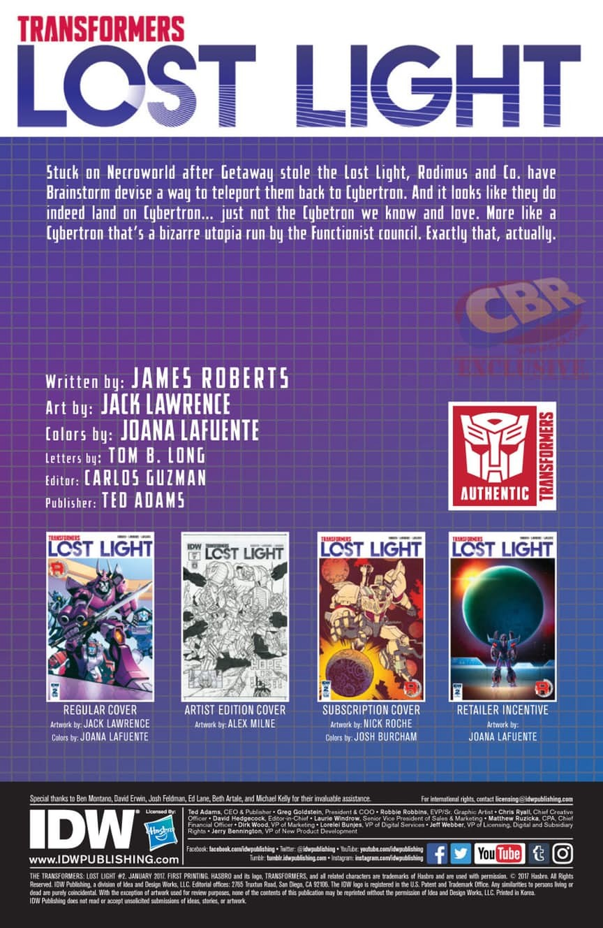 Transformers News: Full Preview of IDW Transformers: Lost Light #2