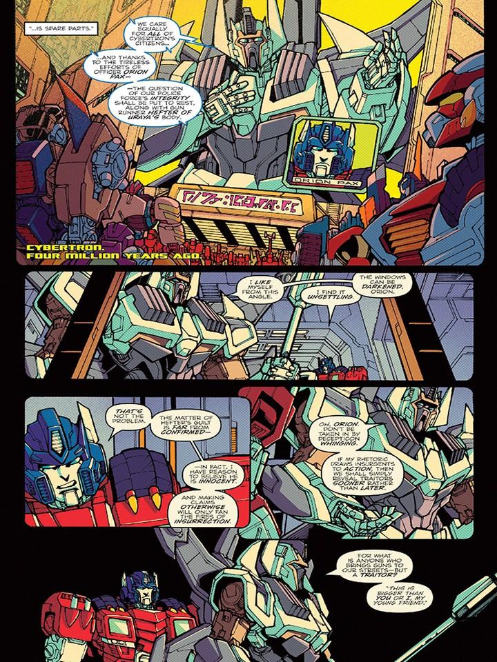 Transformers News: Sneak Peak - IDW Optimus Prime #4