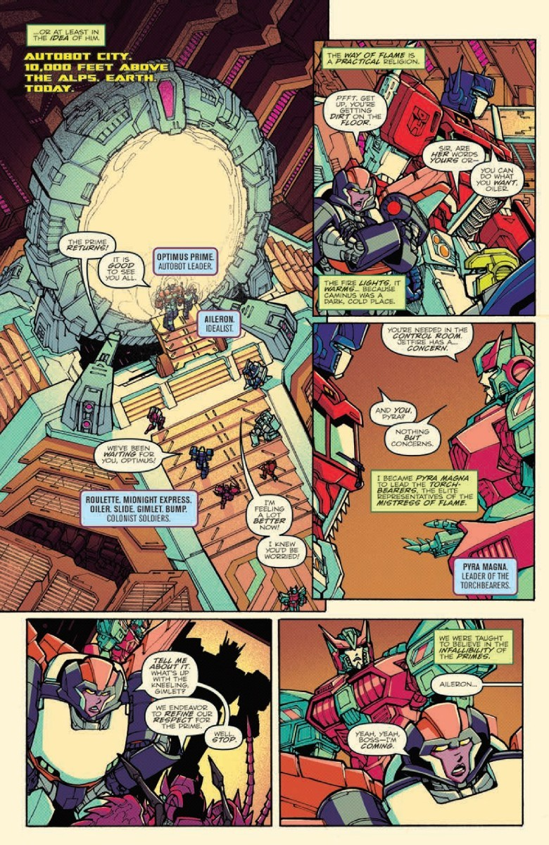 Transformers News: Full Preview of IDW Optimus Prime #4