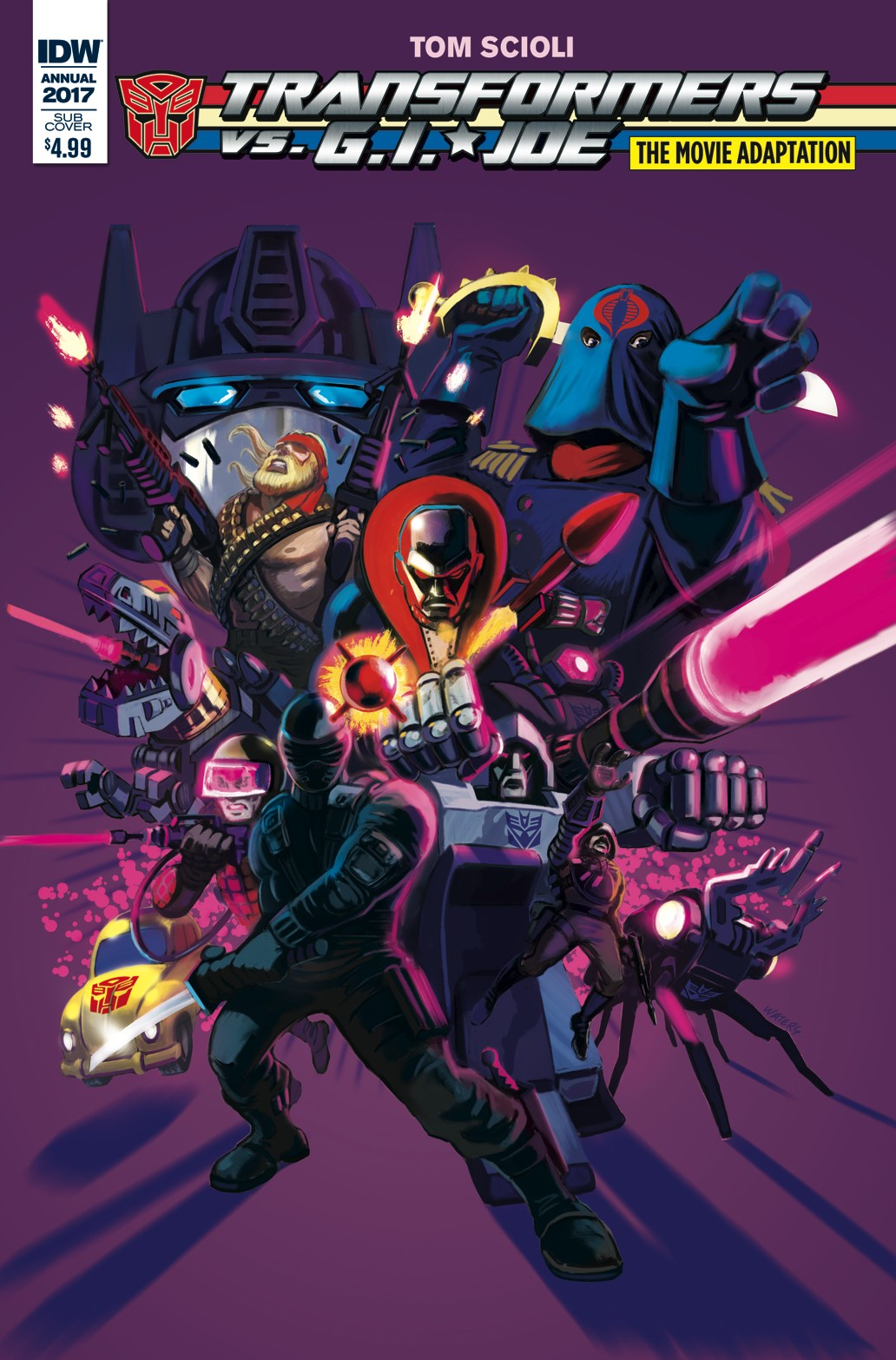 Transformers News: Variant Cover for IDW Transformers vs. G.I. Joe The Movie Adaptation One Shot