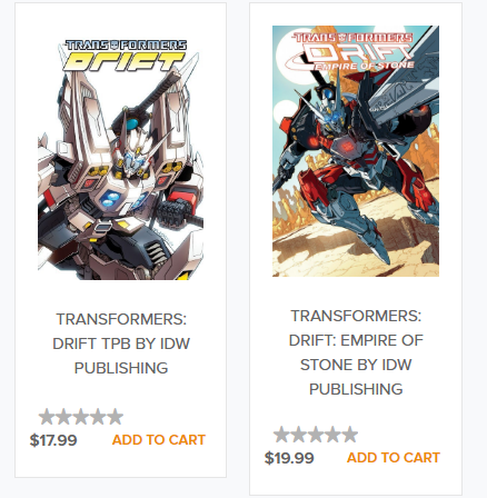 Transformers News: Hasbro Toy Shop Now Selling IDW Transformers Comics