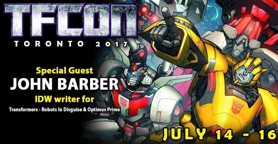 Transformers News: IDW Writer John Barber to Attend TFcon Toronto 2017