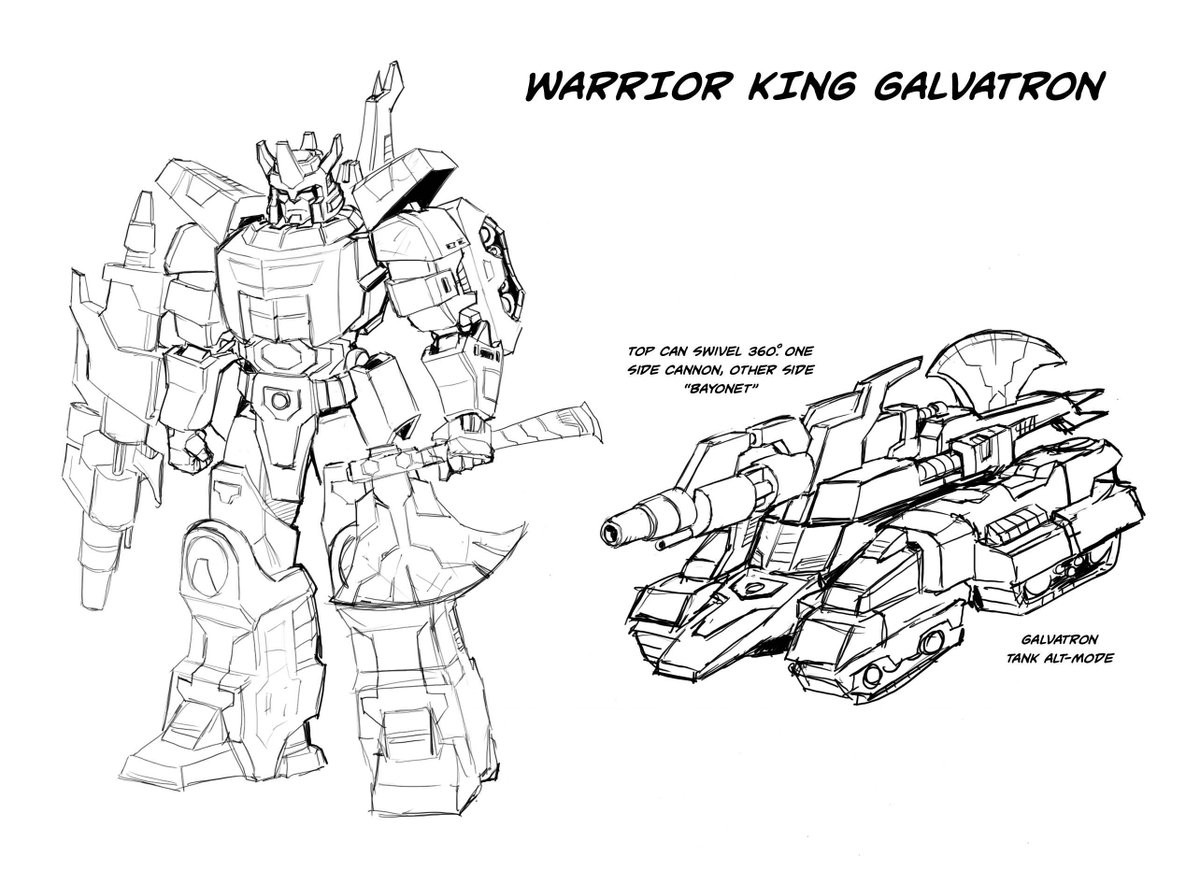 Transformers News: IDW Galvatron Warrior King Designs by Casey Coller