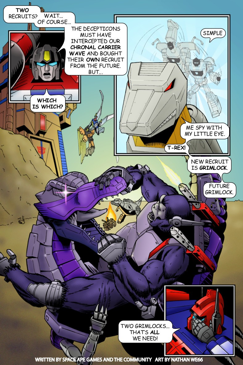 Transformers News: Transformers: Earth Wars Beast Wars Mini-Comic in Full and Live Ending Vote Details