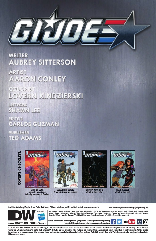 Transformers News: IDW Hasbro Universe - Full Preview for GI Joe #5