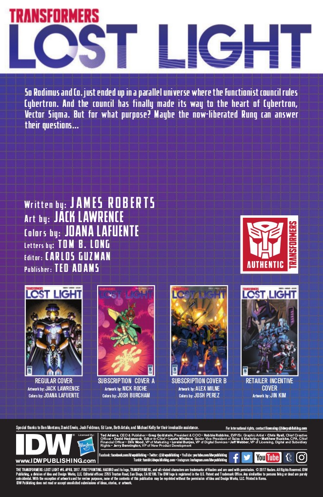 Transformers News: Full Preview of IDW Transformers: Lost Light #5