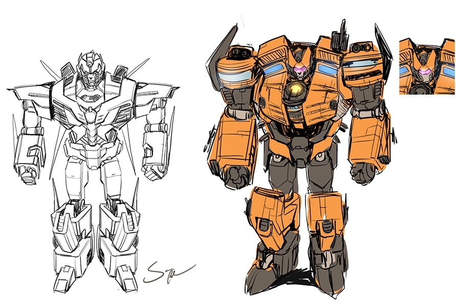 Transformers News: Concept Art for Titan Vigilem in IDW Transformers: Till All Are One, By Pitre Durocher
