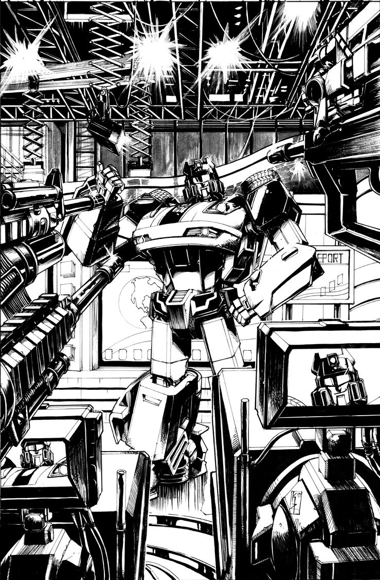 Transformers News: Variant Cover for IDW Optimus Prime #8 by Kei Zama& Josh Burcham