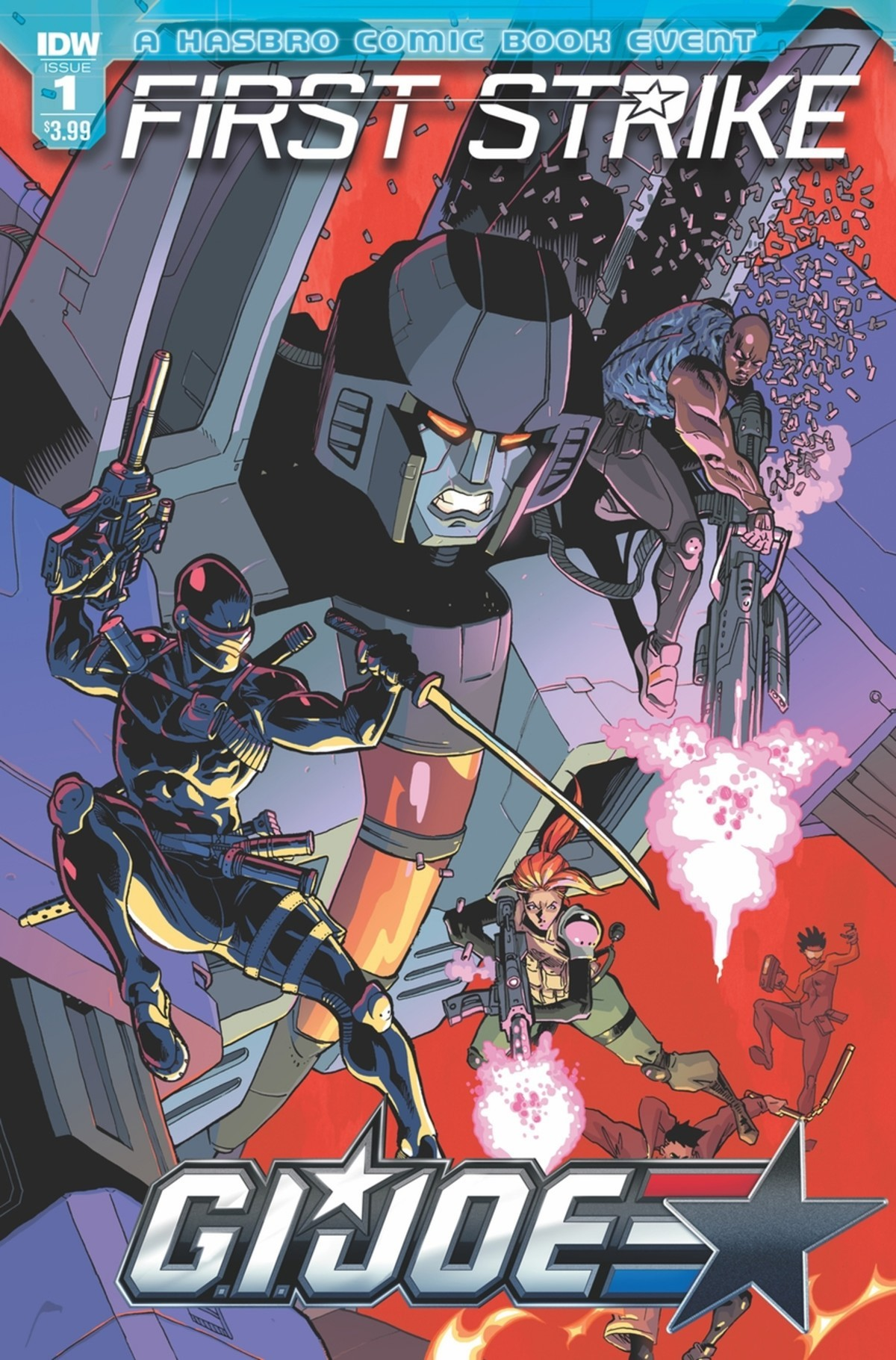 Transformers News: Unlettered Preview for IDW First Strike #1, Plus Writer Interview and More Covers
