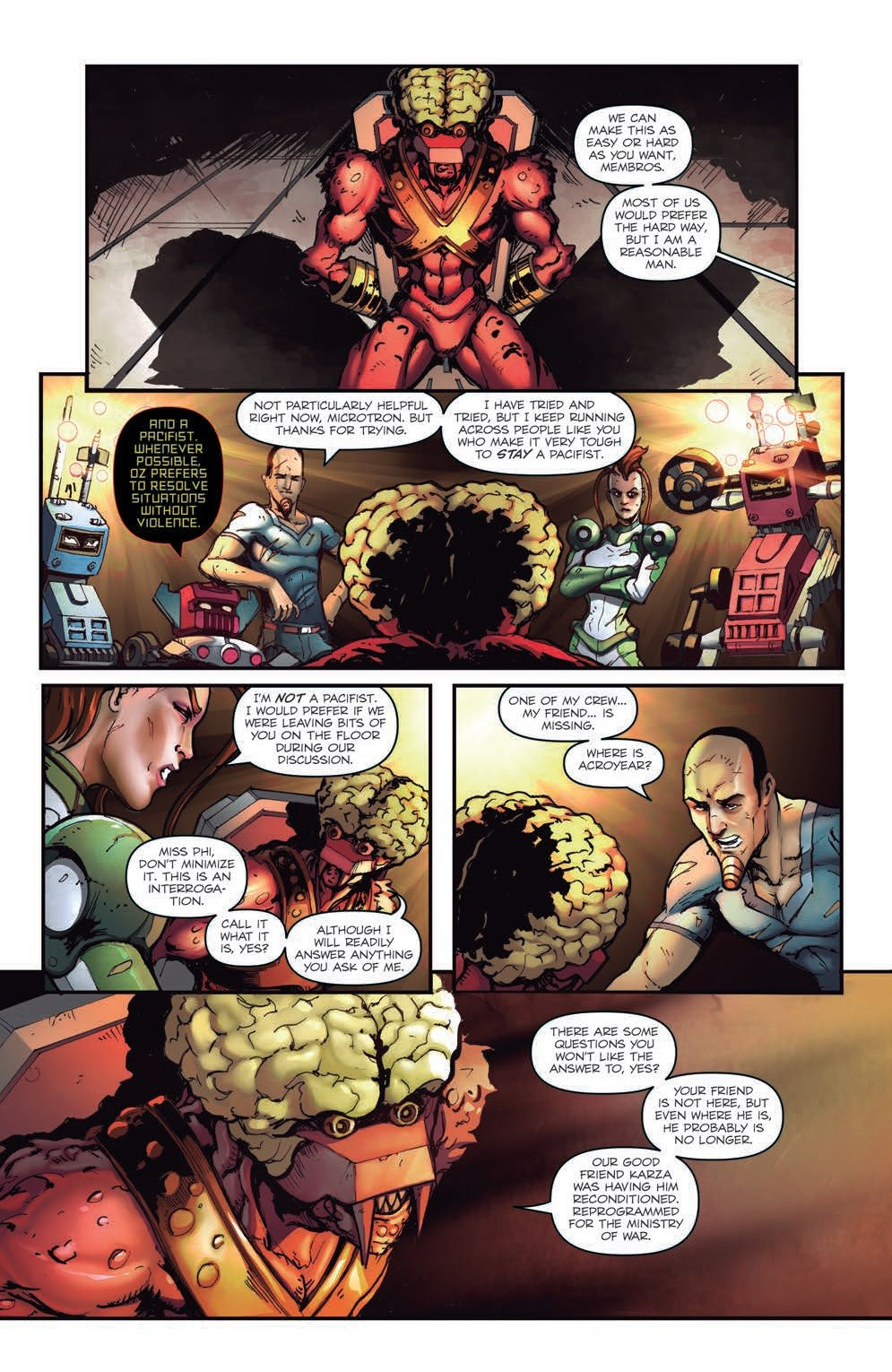 Transformers News: IDW Hasbro Universe - Micronauts: Wrath of Karza #4 Five Page Preview