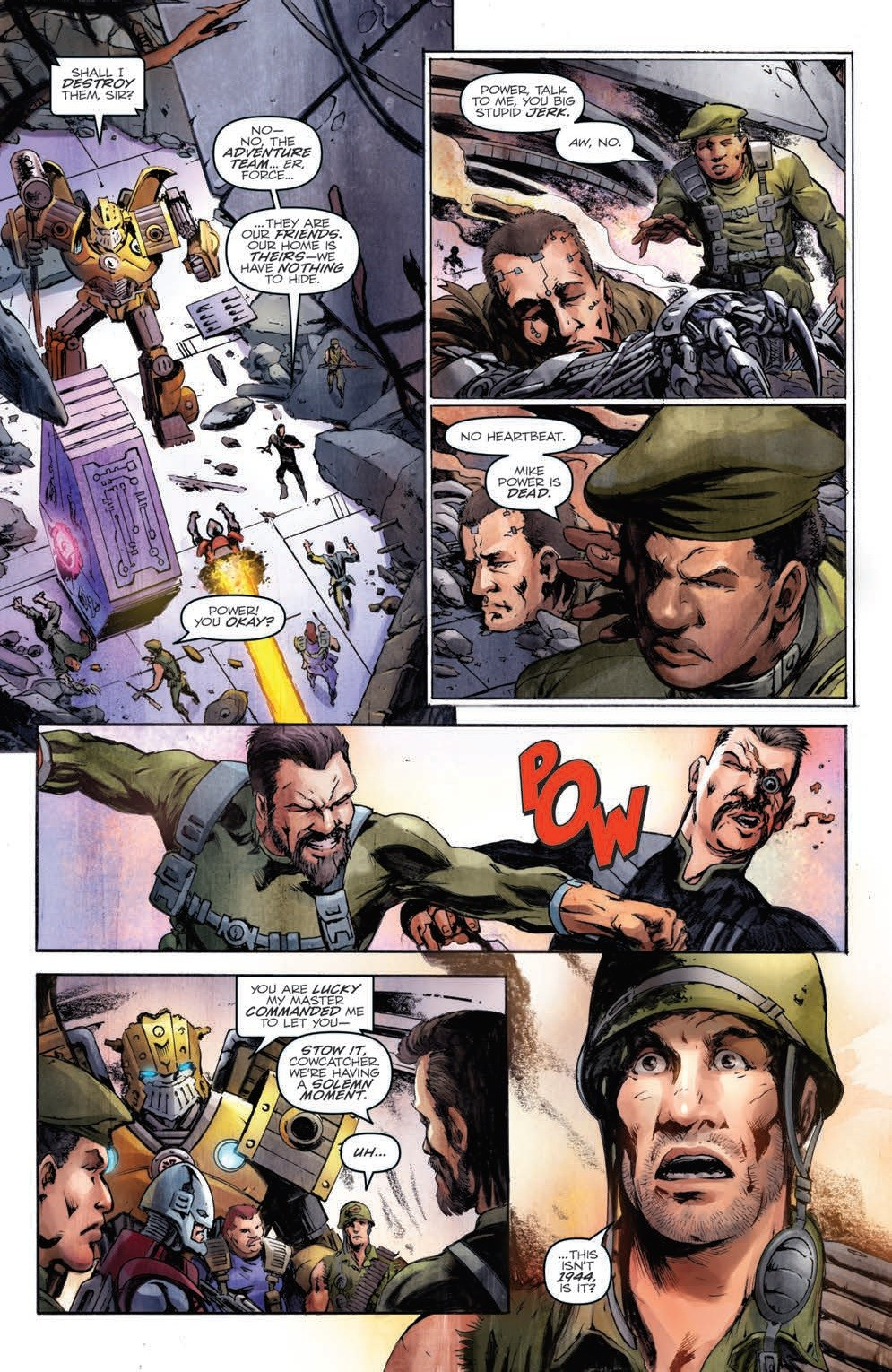 Transformers News: IDW Hasbro Universe - Revolutionaries #7 Five Page Preview