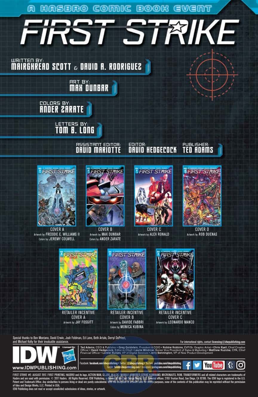 Transformers News: Full Preview for IDW First Strike #2 #HasbroFirstStrike