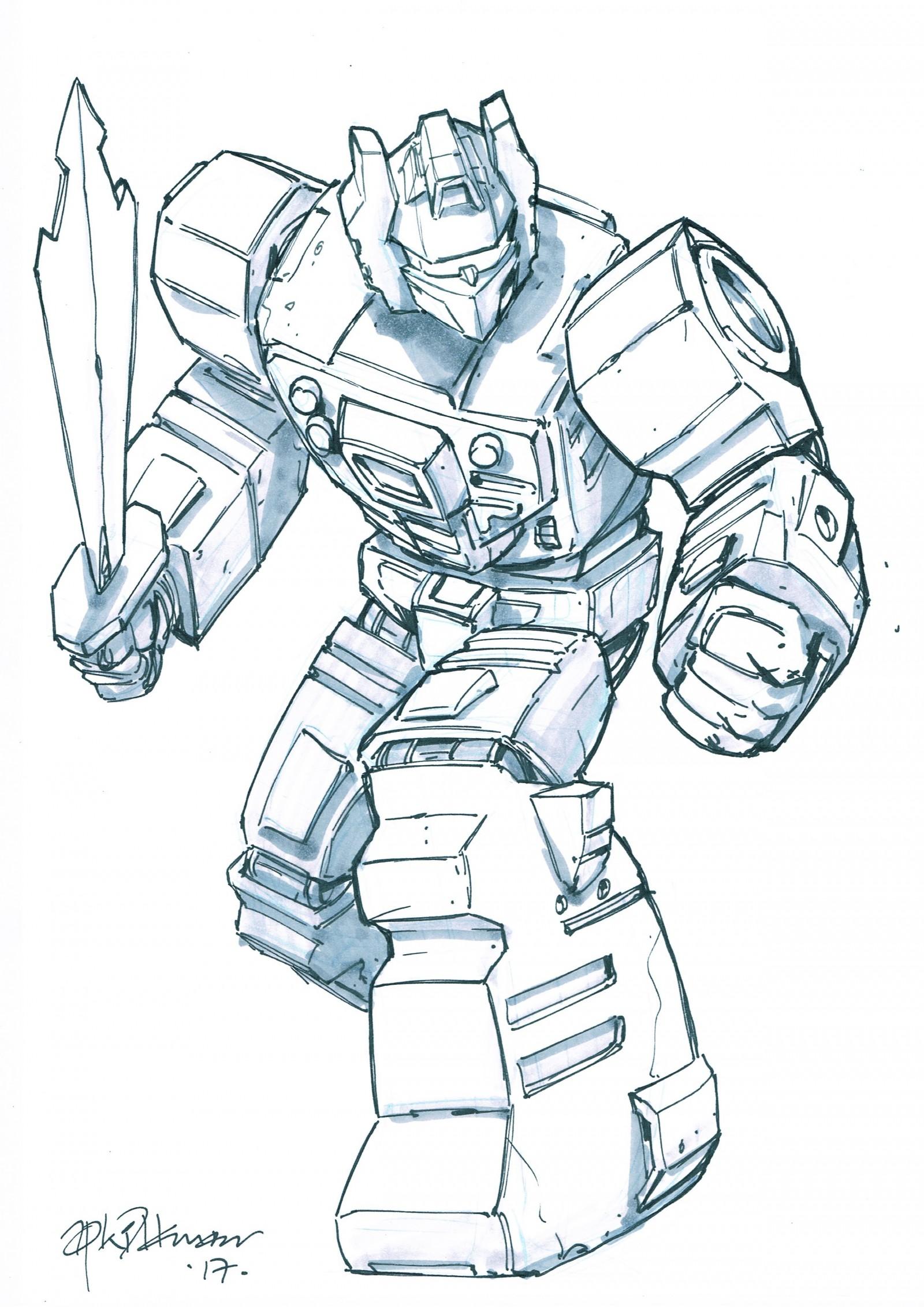 Transformers News: Andrew Wildman Transformers Sketchbooks