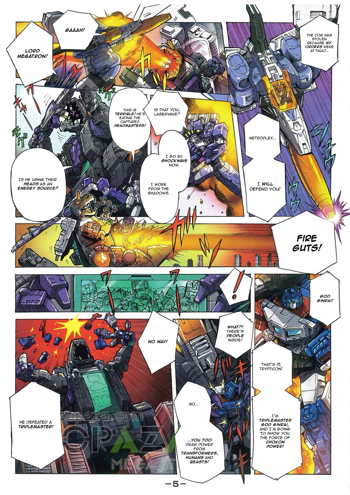 Transformers News: Transformers Legends Trypticon Pack-In Comic English Translation