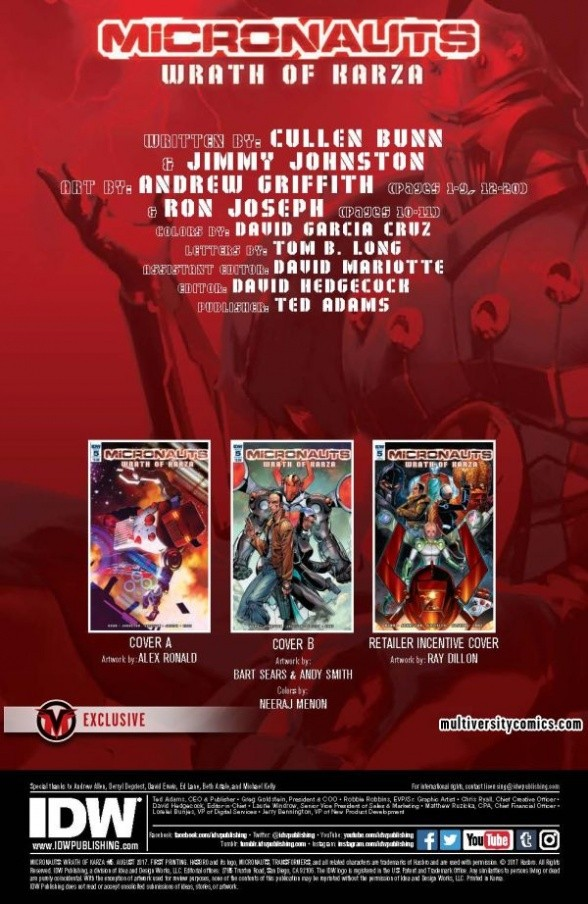 Transformers News: Re: IDW Hasbro Comics - Micronauts: Wrath of Karza Launching April 2017