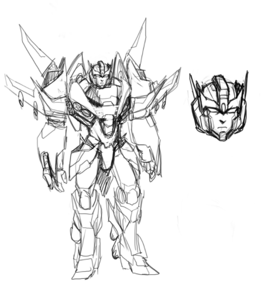 Transformers News: Transformers Comic Artist Sara Pitre-Durocher's Starscream Design Sketches