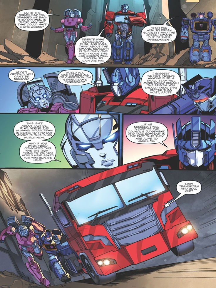 Transformers News: First Strike #5 iTunes 3-page Preview