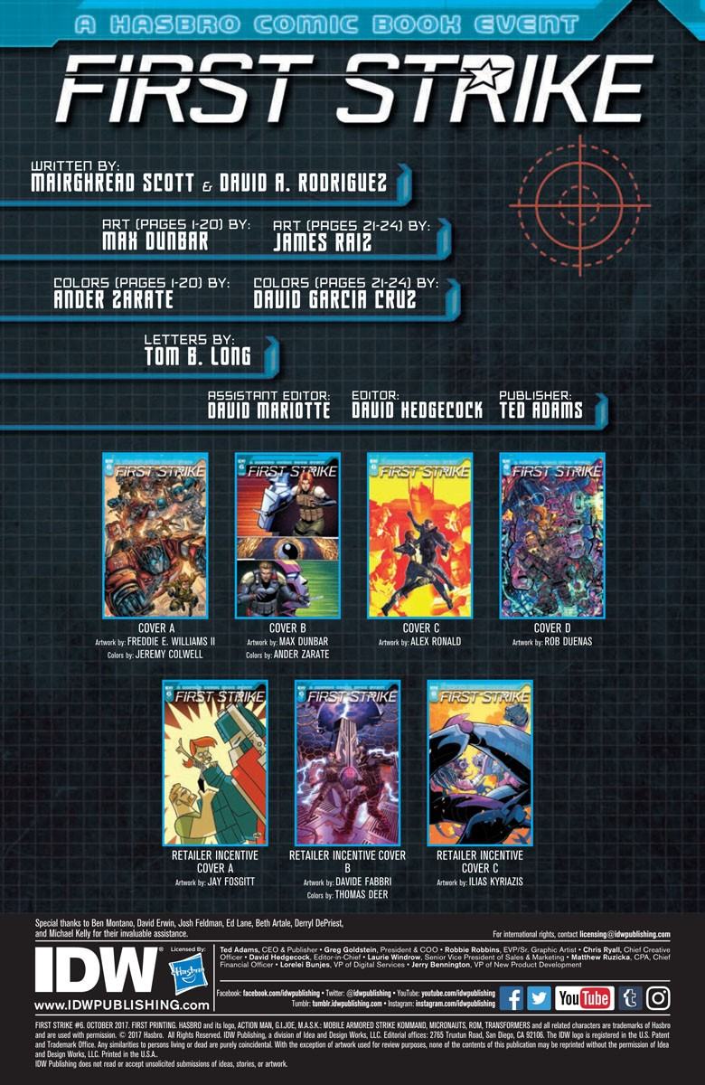 Transformers News: Full Preview of IDW First Strike #6 #HasbroFirstStrike