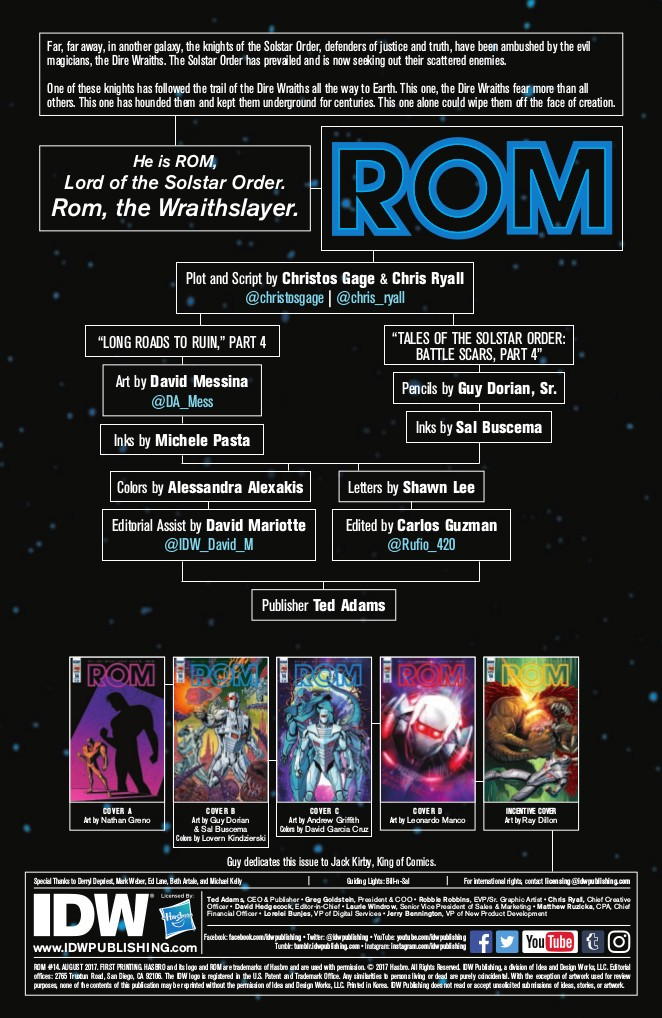 Transformers News: IDW Hasbro Universe - Full Preview for ROM the Spaceknight #14 (Final Issue)