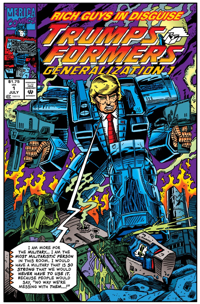 Transformers News: More Transformers Homage in Robert Sikoryak's The Unquotable Trump