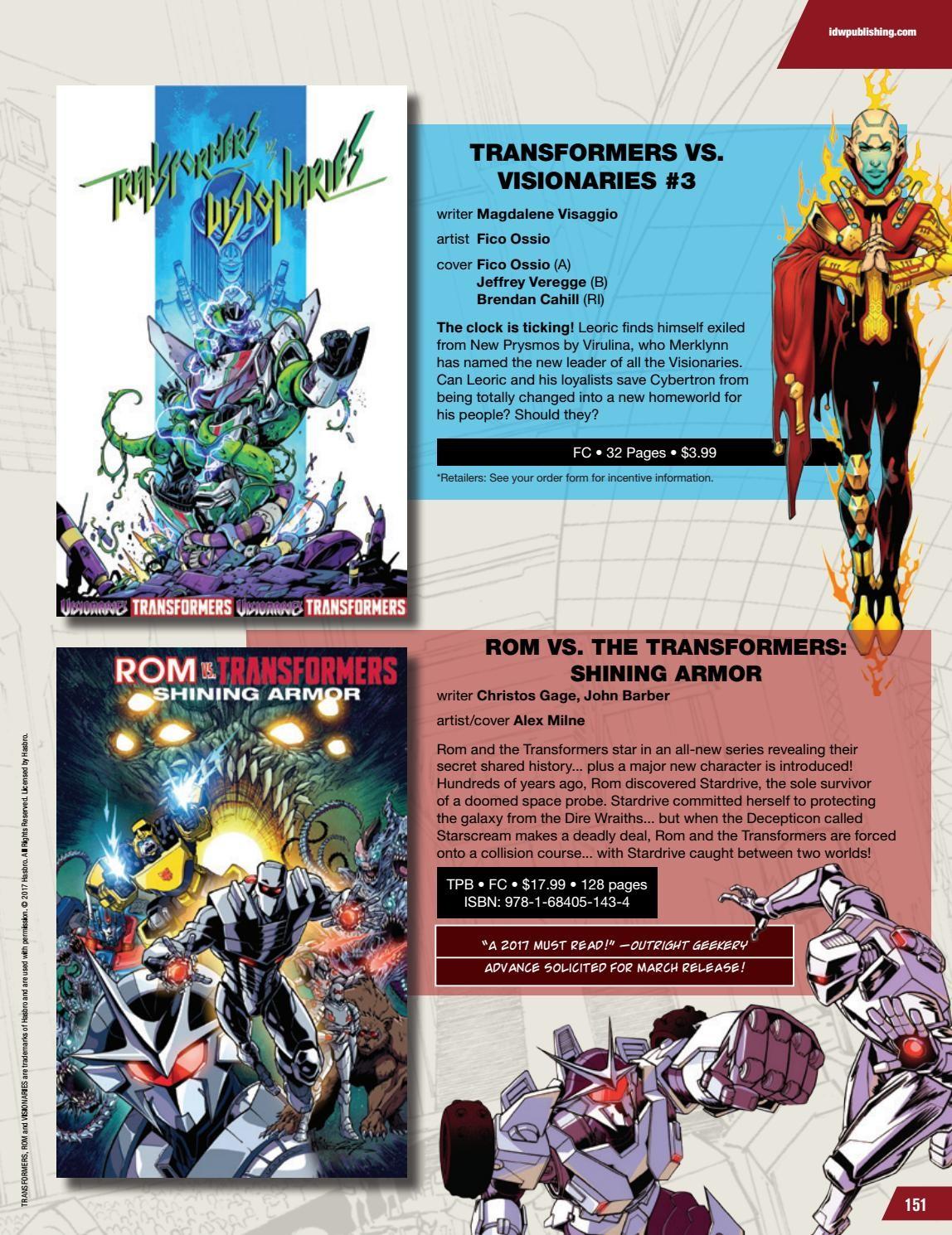 Transformers News: IDW Transformers & Hasbro Universe Comics Solicitations for February 2018