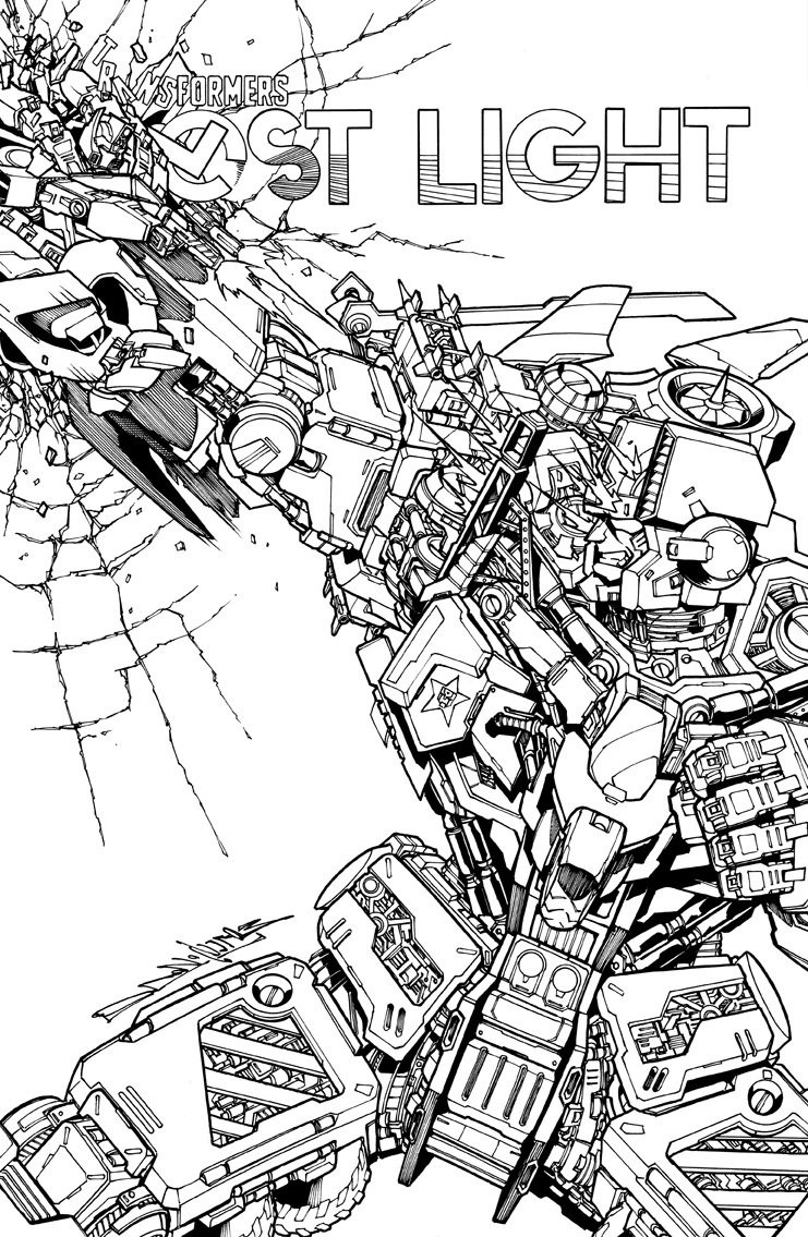 Transformers News: Variant Cover for IDW Transformers: Lost Light #12 by Milne / Perez