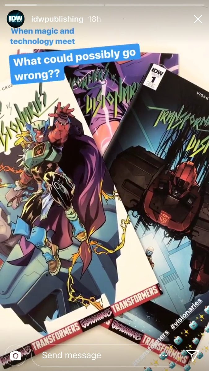 Transformers News: More Teasers for IDW Transformers vs Visionaries
