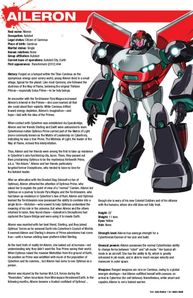 Preview for IDW Hasbro Heroes Sourcebook, feat  Transformers