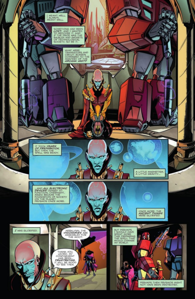 Transformers News: Preview for IDW Transformers vs The Visionaries #1