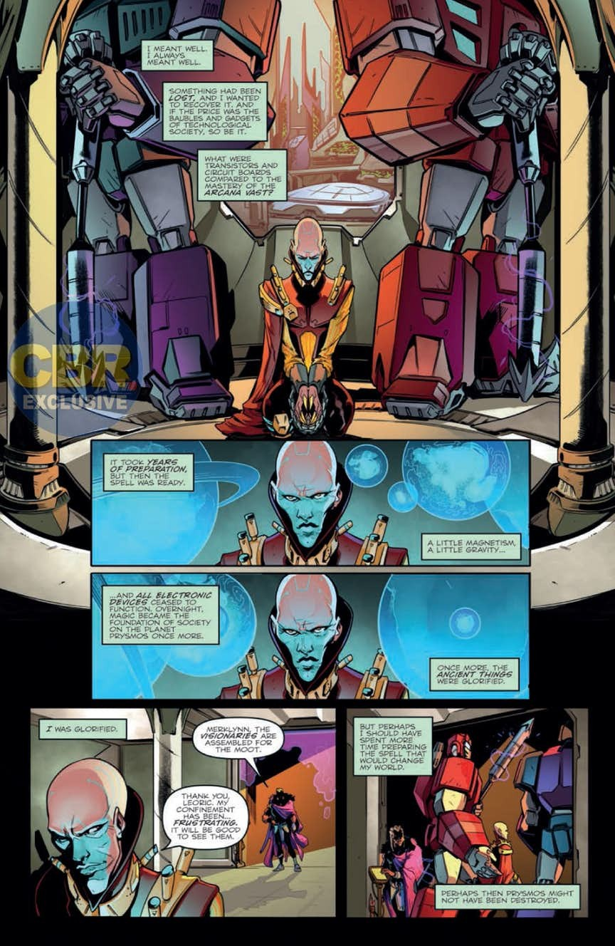 Transformers News: Full Preview for IDW Transformers vs The Visionaries #1