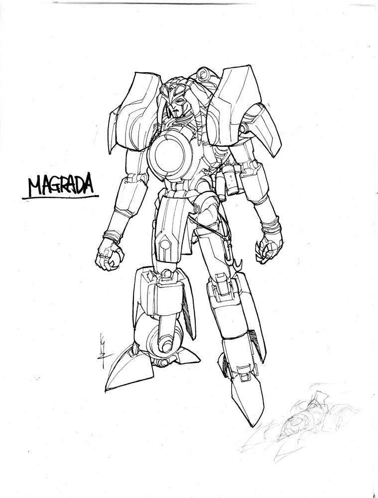 Transformers News: IDW Art: Magrada, Wraith Stardrive Hybrid, More, by Kei Zama and Alex Milne