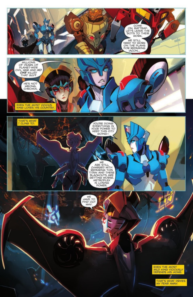 Transformers News: Preview for IDW Transformers Windblade: The Last City TPB