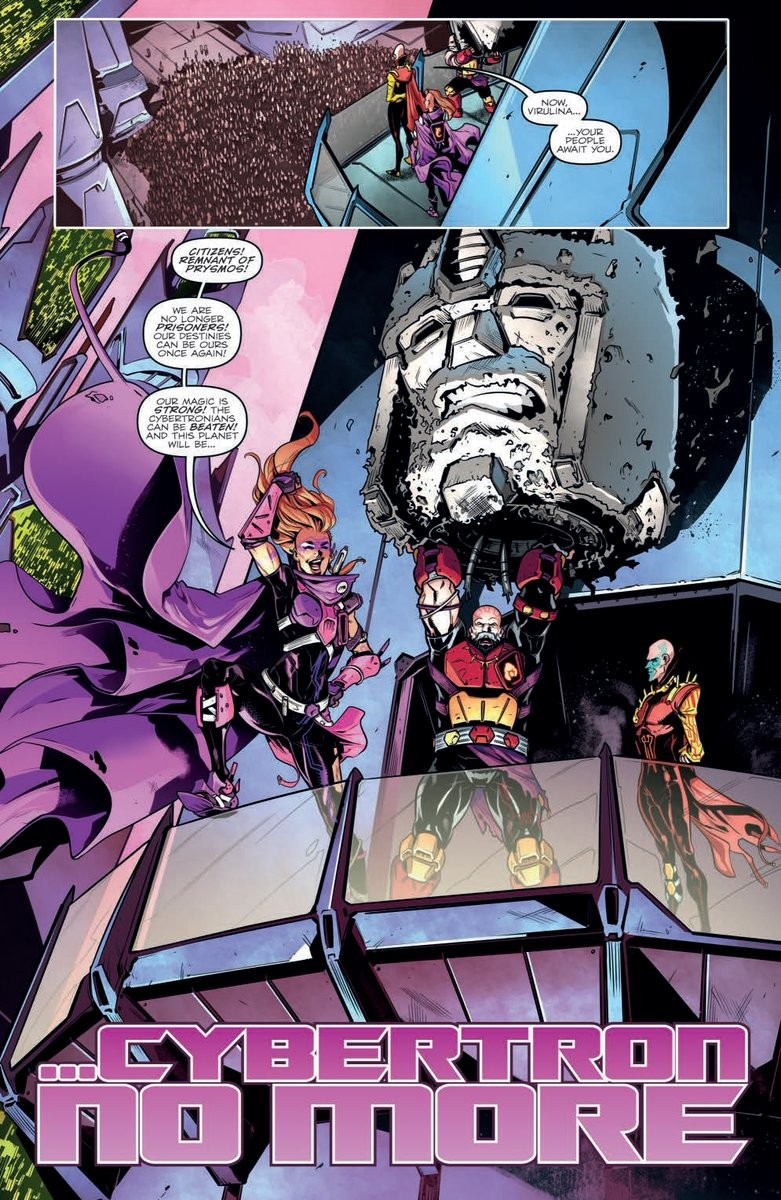Transformers News: Three-Page Preview for IDW Transformers vs Visionaries #2