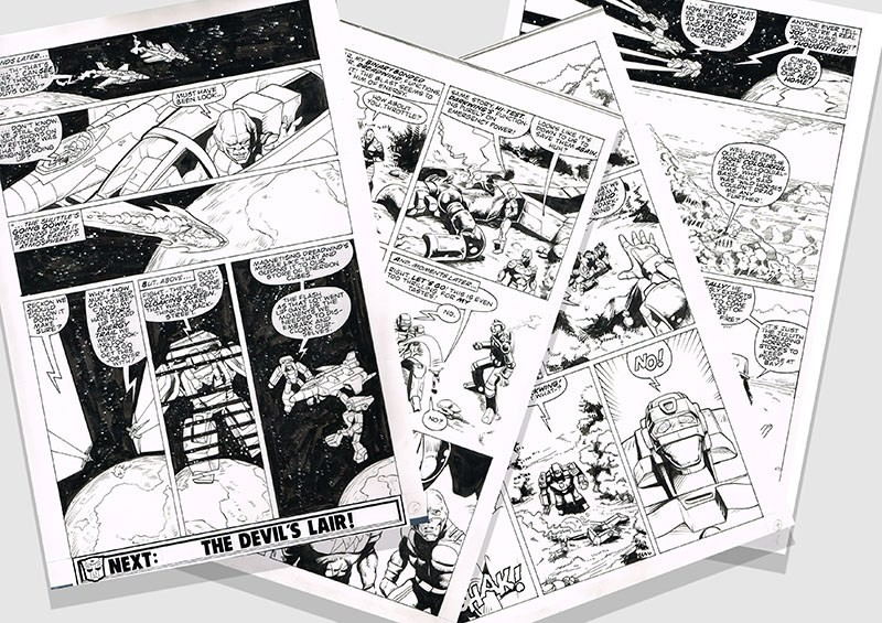 Transformers News: Marvel UK The Transformers Original Andrew Wildman Pages on Auction
