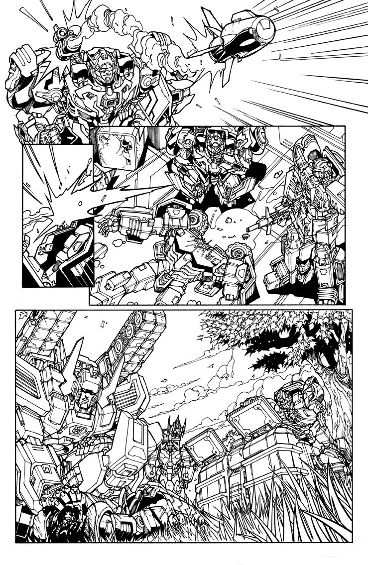 Transformers News: IDW Lost Light #13 Uncolored First 5 Pages Shown, Plus New Red Alert and Cerebros Designs