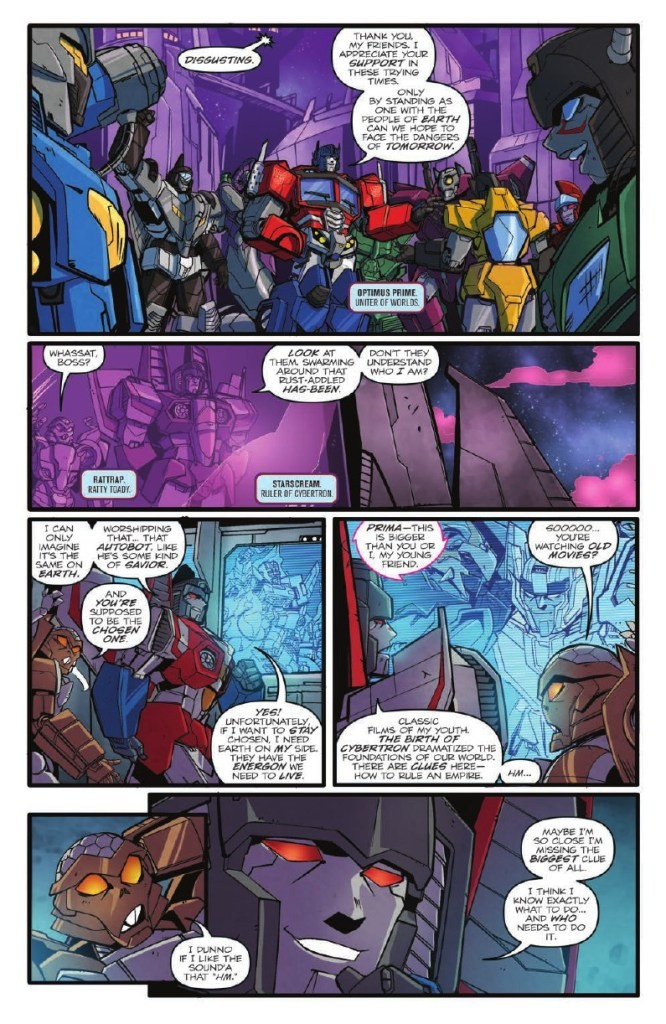 Transformers News: Full Preview for IDW Transformers Optimus Prime Annual 2018 - Thundercracker in Starscream: The Movi