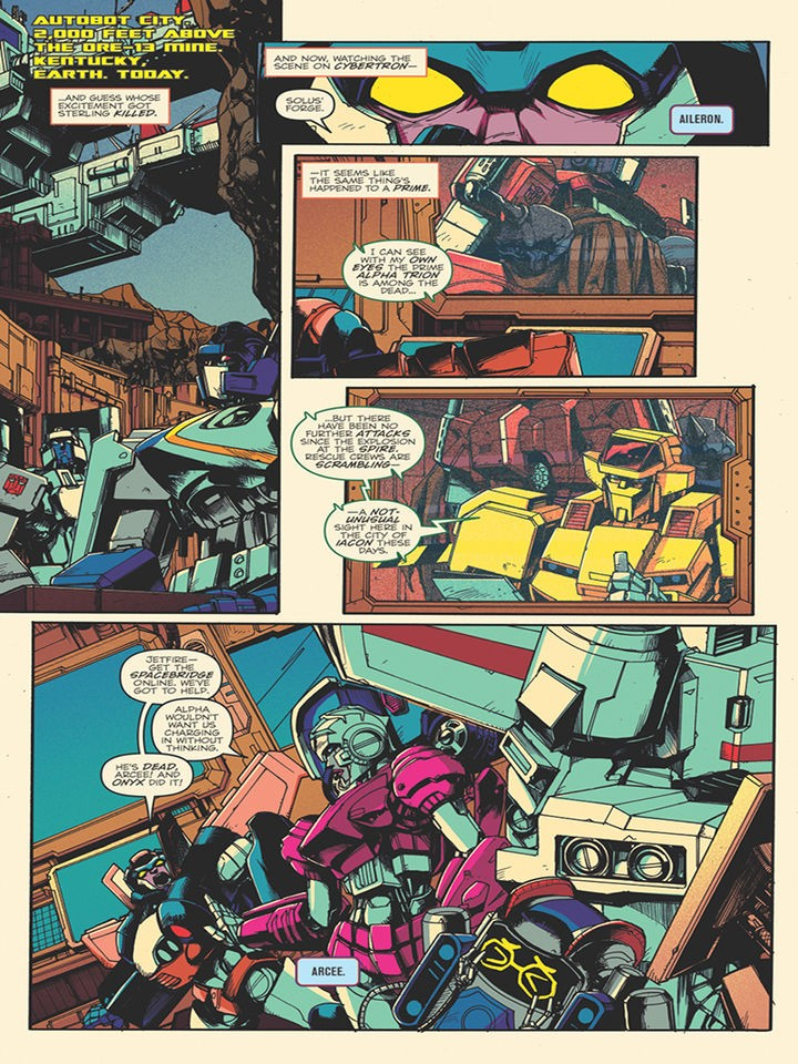 Transformers News: Sneak Peek - IDW Optimus Prime #17, Issue #18 to Come Out on Same Day as #17