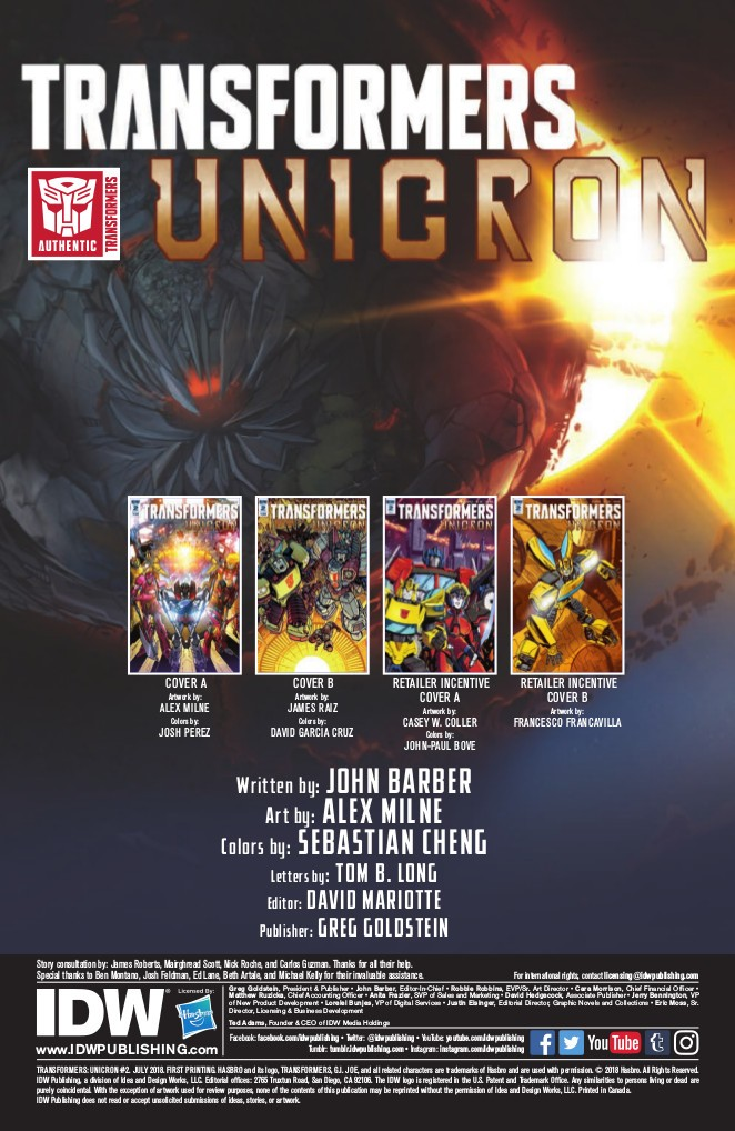 Transformers News: Ful Preview for IDW Transformers: Unicron #2