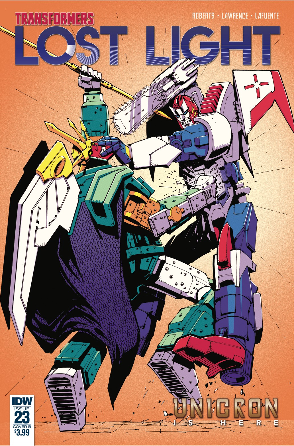 Transformers News: Variant Cover for IDW Transformers: Lost Light #23 by Geoff Senior / Josh Burcham