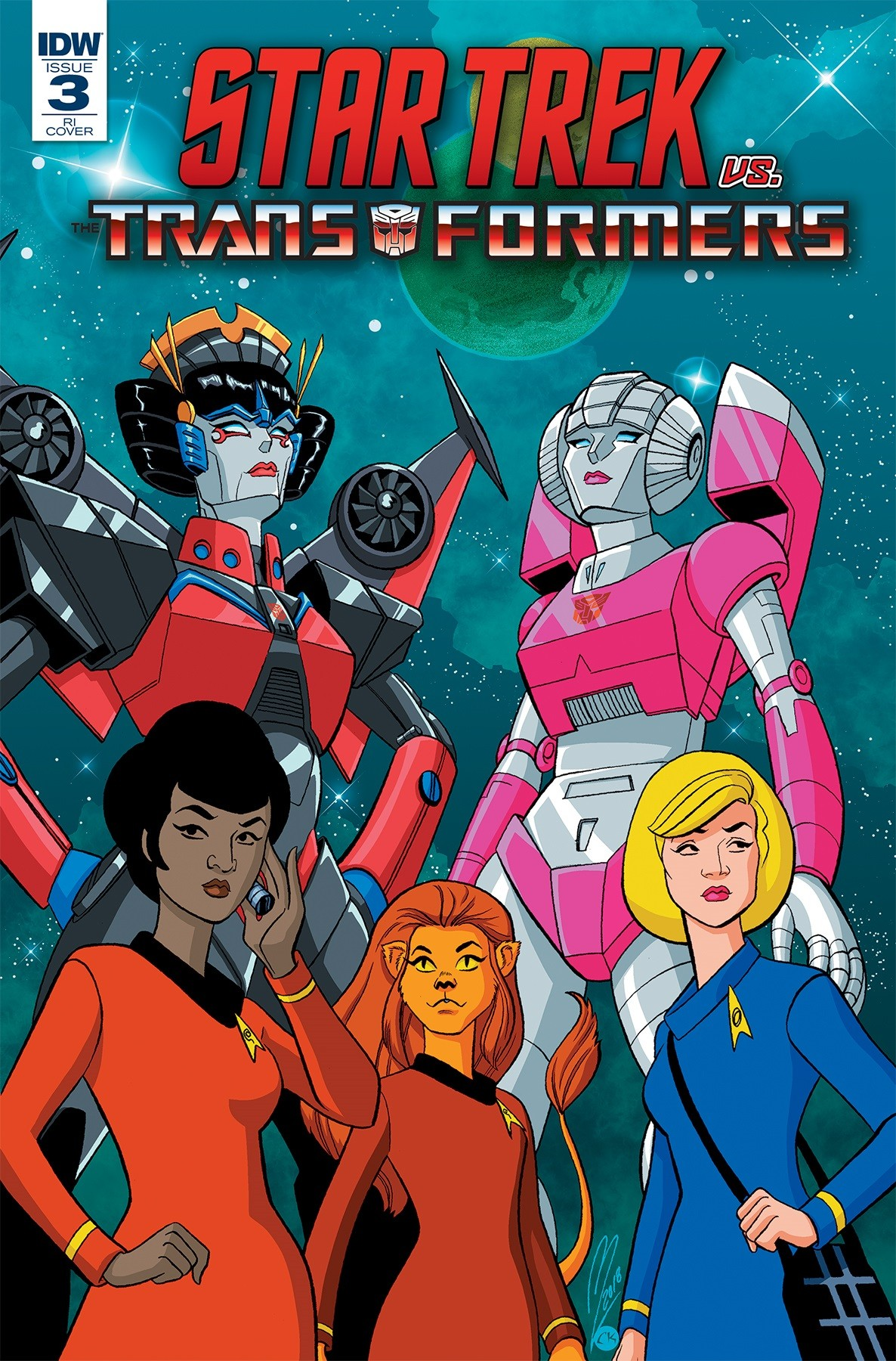 Transformers News: Retailer Incentive Variant Cover for IDW Star Trek Vs. Transformers #3 by Megan Levens