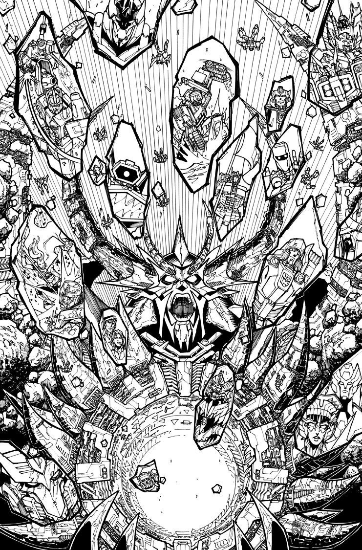 Transformers News: IDW Transformers: Unicron #6 Alex Milne Cover Revealed